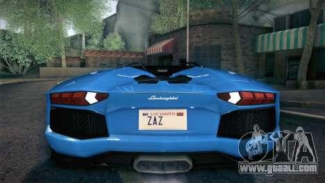 Lamborghini Aventador Roadster for GTA San Andreas wheels