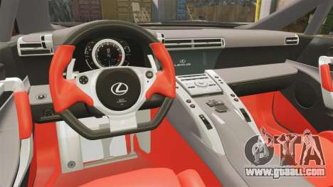 Lexus LF-A 2010 [EPM] Goodsmile Racing for GTA 4 inner view