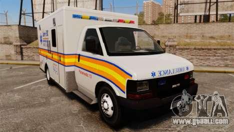 Brute Speedo LEMS Ambulance [ELS] for GTA 4