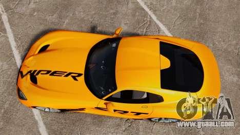 Dodge Viper SRT GTS 2013 for GTA 4 right view