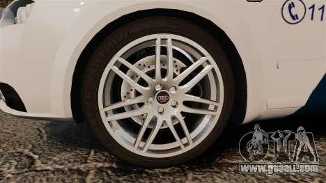 Audi S4 Avant Hungarian Police [ELS] for GTA 4 back view