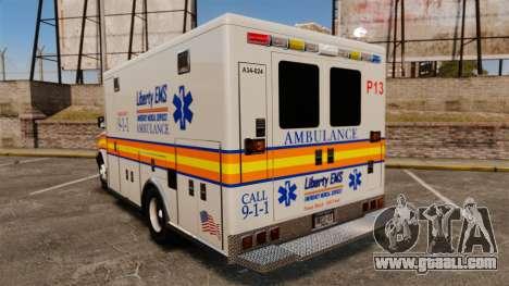 Brute Speedo LEMS Ambulance [ELS] for GTA 4 back left view