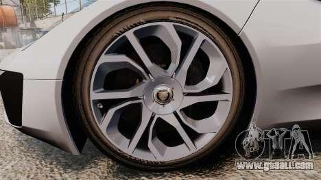 Jaguar C-X75 [EPM] Carbon Series for GTA 4 back view