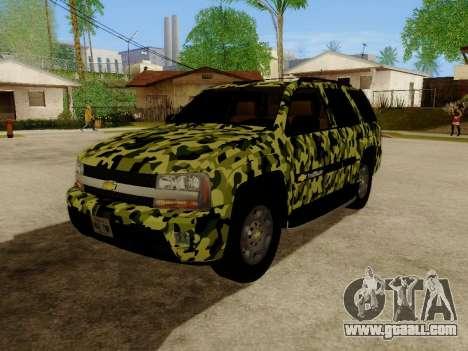 Chevrolet TrailBlazer Army for GTA San Andreas