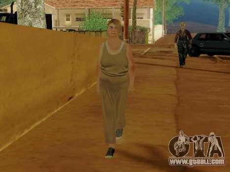 Elderly woman for GTA San Andreas third screenshot