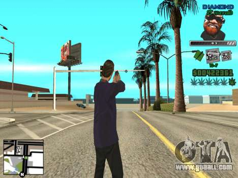 C-HUD by Misterio for GTA San Andreas third screenshot