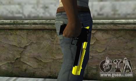 Yellow Desert Eagle for GTA San Andreas third screenshot