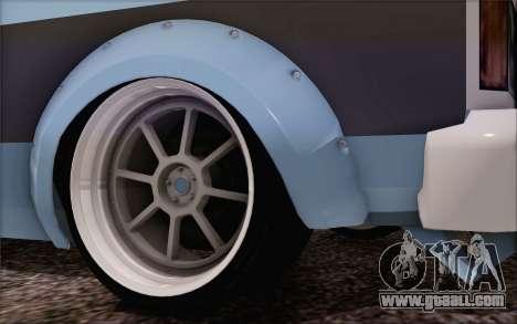 Regina Widebody V8 for GTA San Andreas back left view