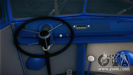 Volkswagen T1 Milicija for GTA San Andreas back view