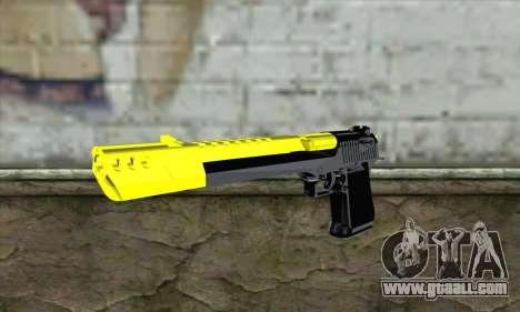 Yellow Desert Eagle for GTA San Andreas