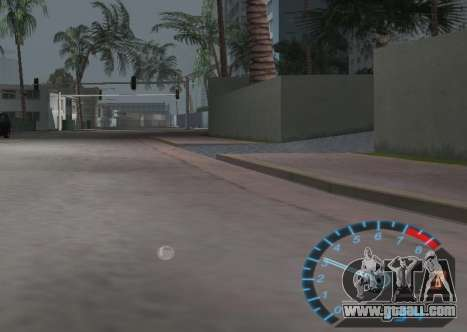 The speedometer from NFS Underground for GTA Vice City third screenshot