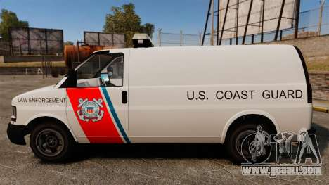 Vapid Speedo U.S. Coast Guard for GTA 4 left view