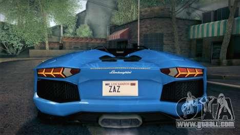 Lamborghini Aventador Roadster for GTA San Andreas