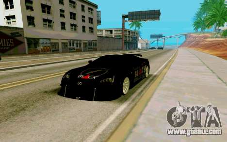 Lexus LFA Street Edition Djarum Black for GTA San Andreas right view