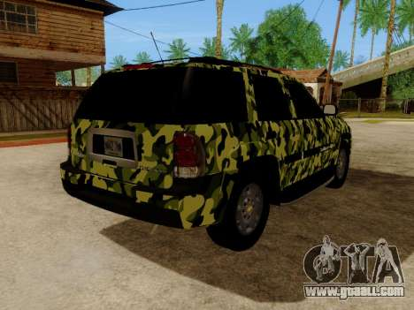 Chevrolet TrailBlazer Army for GTA San Andreas back view