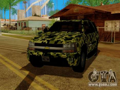 Chevrolet TrailBlazer Army for GTA San Andreas side view