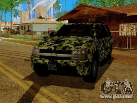 Chevrolet TrailBlazer Army for GTA San Andreas side view