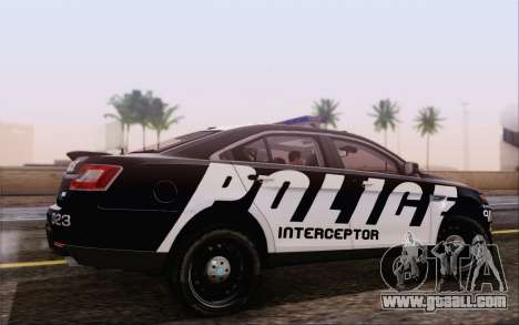 Ford Taurus Police for GTA San Andreas left view