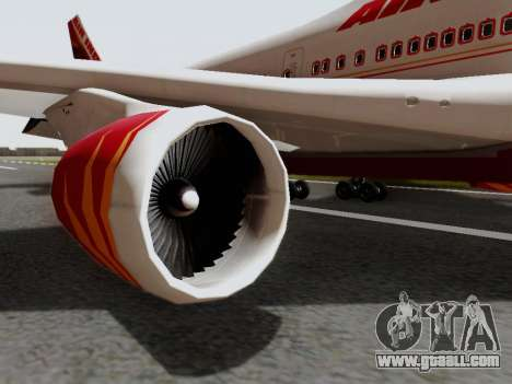 Boeing 747 Air India for GTA San Andreas right view