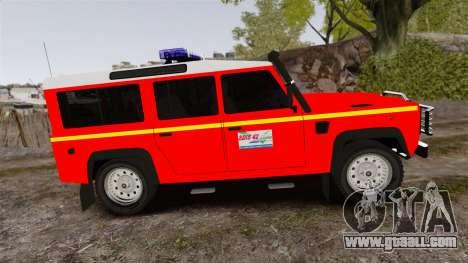 Land Rover Defender VLHR SDIS 42 [ELS] for GTA 4 left view