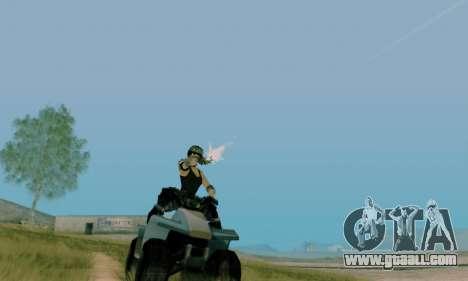 SWAT GIRL for GTA San Andreas forth screenshot