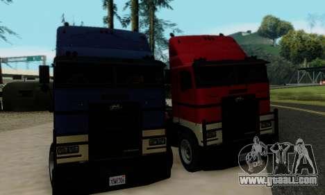 Hauler GTA V for GTA San Andreas inner view