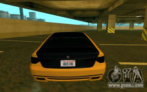 Ubermacht Oracle из GTA IN for GTA San Andreas back left view