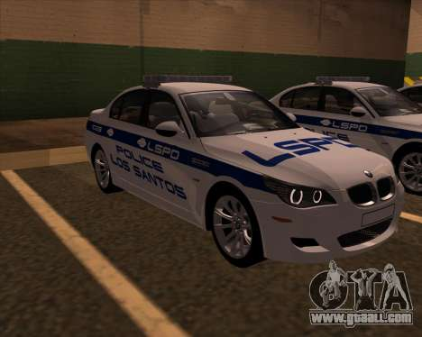 BMW M5 E60 Police LS for GTA San Andreas right view