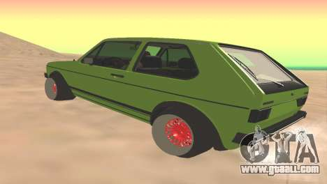 Volkswagen Golf Mk1 Low for GTA San Andreas back left view