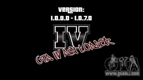 ASI Loader for GTA IV 1.0.7.0-EN 1.0.0.0 for GTA 4