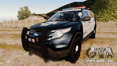 Ford Explorer 2013 LCPD [ELS] Black and Gray for GTA 4