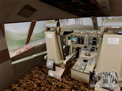 Boeing 747 Air India for GTA San Andreas side view
