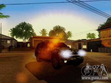 Chevrolet TrailBlazer Army for GTA San Andreas upper view