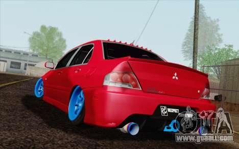 Mitsubishi Lancer MR Edition for GTA San Andreas left view
