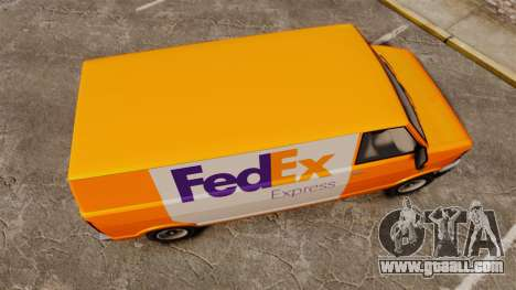 Brute Pony FedEx Express for GTA 4 right view