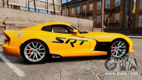 Dodge Viper SRT GTS 2013 for GTA 4 left view