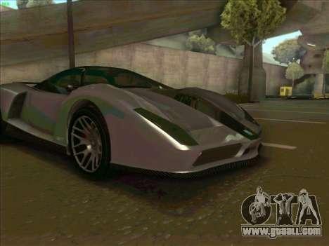 Cheetah Grotti GTA V for GTA San Andreas inner view