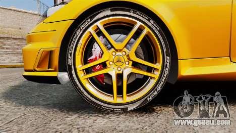 Mercedes-Benz SLK 55 AMG 2014 v1.4 for GTA 4 back view