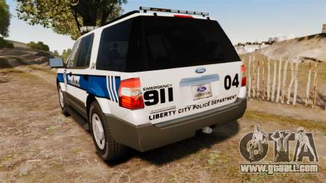 Ford Expedition LCPD SSV v2.5F [ELS] for GTA 4 back left view