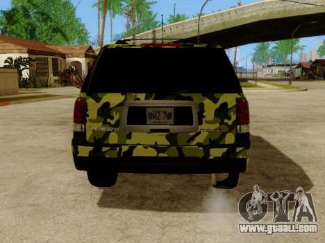 Chevrolet TrailBlazer Army for GTA San Andreas right view