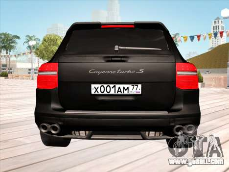 Porsche Cayenne Turbo S 2010 Stock for GTA San Andreas upper view