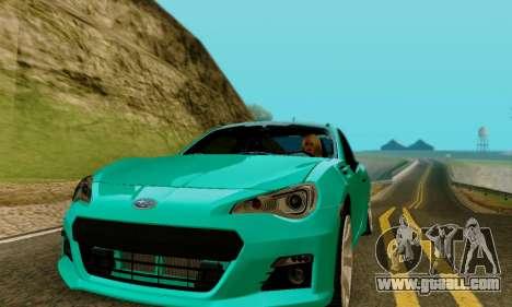 Subaru BRZ for GTA San Andreas right view