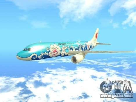 Airbus A320 Air China for GTA San Andreas inner view