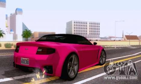 GTA V Rapid GT Cabrio for GTA San Andreas back view