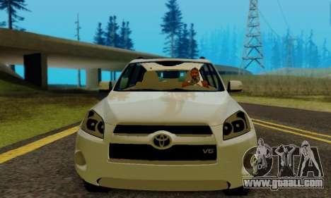 Toyota RAV4 for GTA San Andreas back view