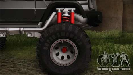 Mercedes-Benz G63 AMG 6X6 for GTA San Andreas back left view