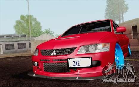 Mitsubishi Lancer MR Edition for GTA San Andreas inner view