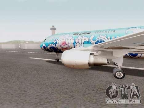Airbus A320 Air China for GTA San Andreas left view
