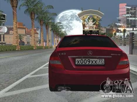 Mercedes-Benz C63 AMG HQLM for GTA San Andreas bottom view