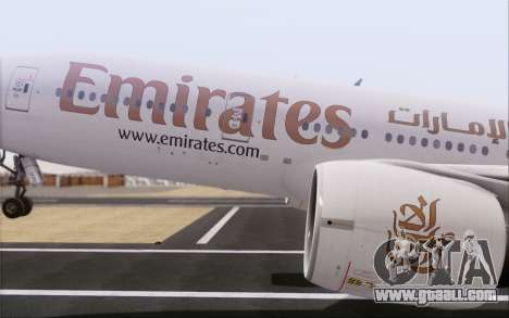 Emirates Airlines 777-200 for GTA San Andreas right view